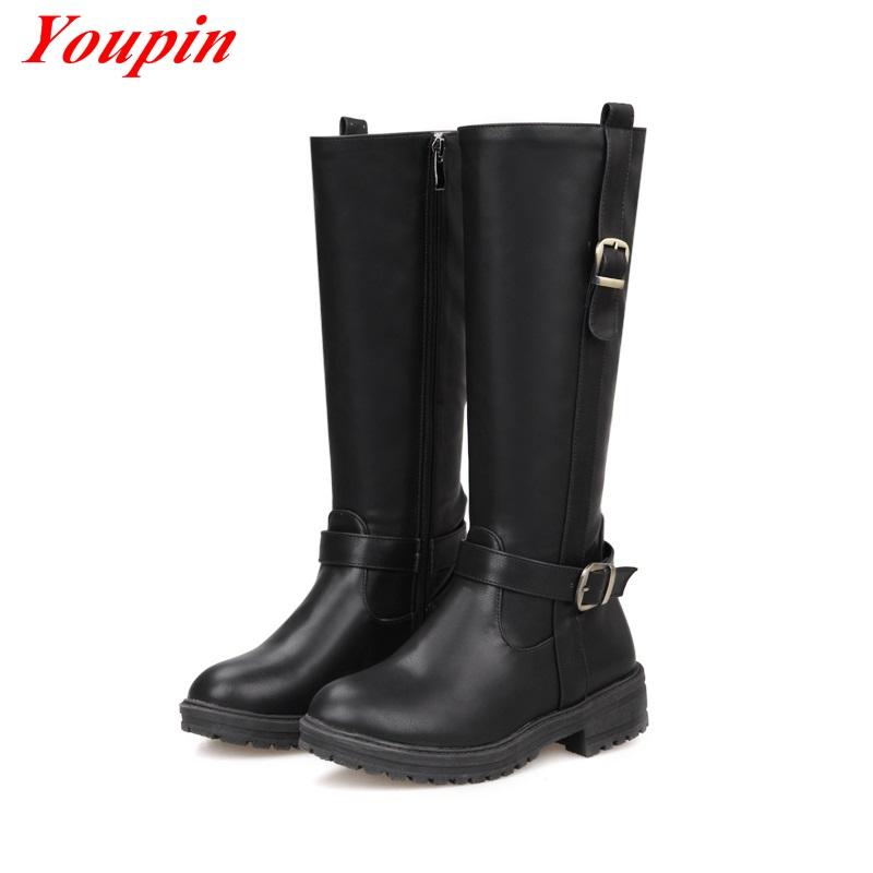 Brown Boots Women 2015 Women Winter Martin Boots Round Toe Boots Fashion Zipper Calf Boots High Shoes Black Flats Boots Womens <br><br>Aliexpress