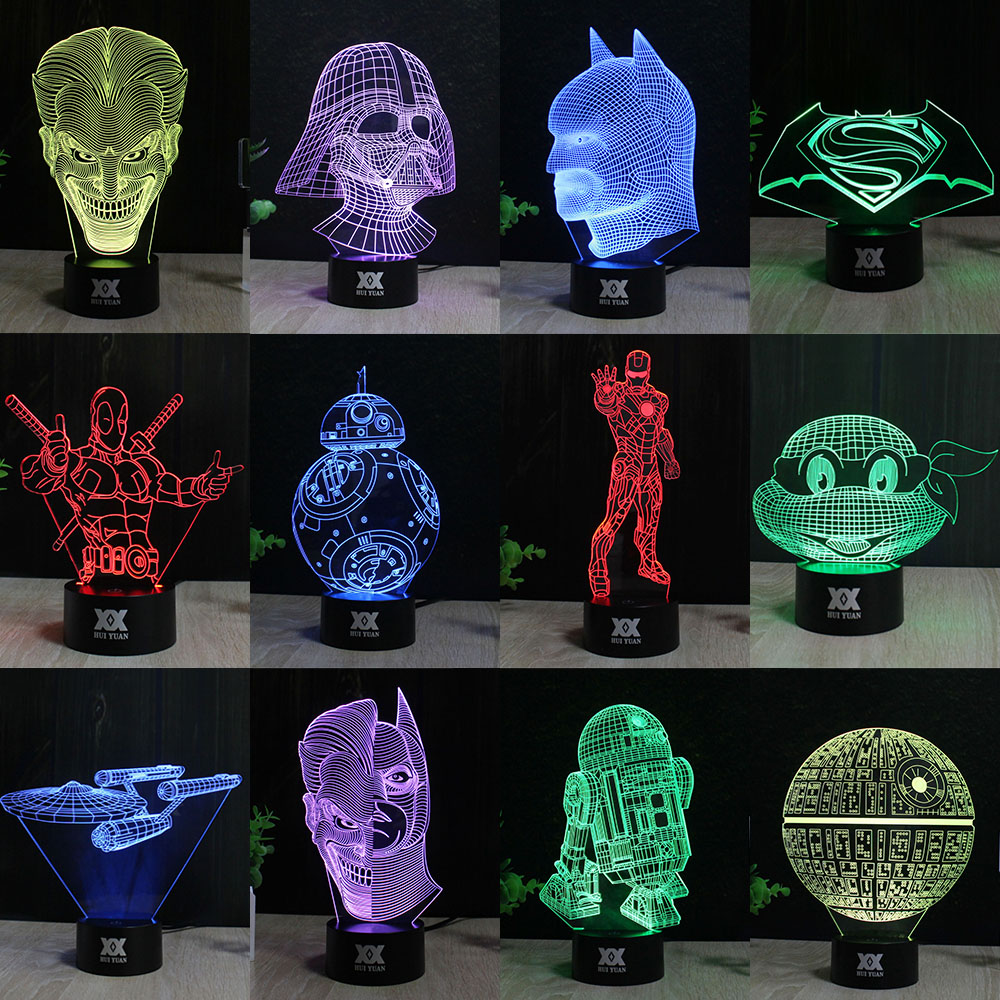 Star Wars Lamp 3d Visual Led Night Lights