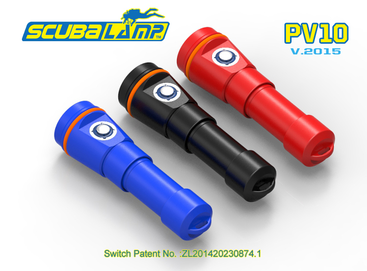 2015 New Arrival~Scubalamp PV10 video/ photo dive light 900lm scuba dive torch 100M underwater photography video light(China (Mainland))
