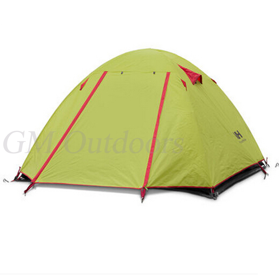 3 Colors Available 2 Person Folding Tent For Family Couple Double Layer UV Protected with Snow Protected Camping Hiking Using(China (Mainland))