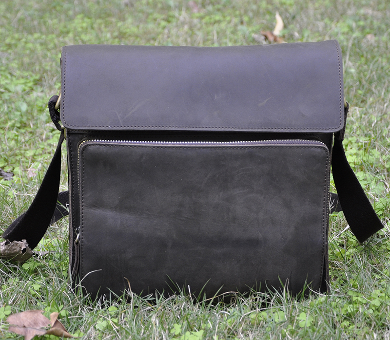 Male genuine leather messenger bag crazy horse leather man bag first layer of cowhide leather casual vintage 11 inch laptop bag
