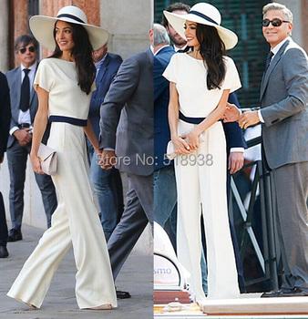 Весна лето элегантный черный белый женщины комбинезон короткий рукав длинная брюки ...