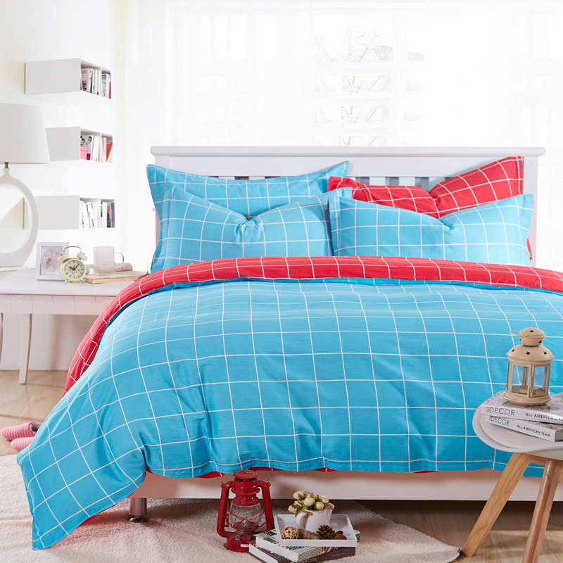 Classical bedding set cheap duvet cover white and blue and - Red white and blue sheets ...