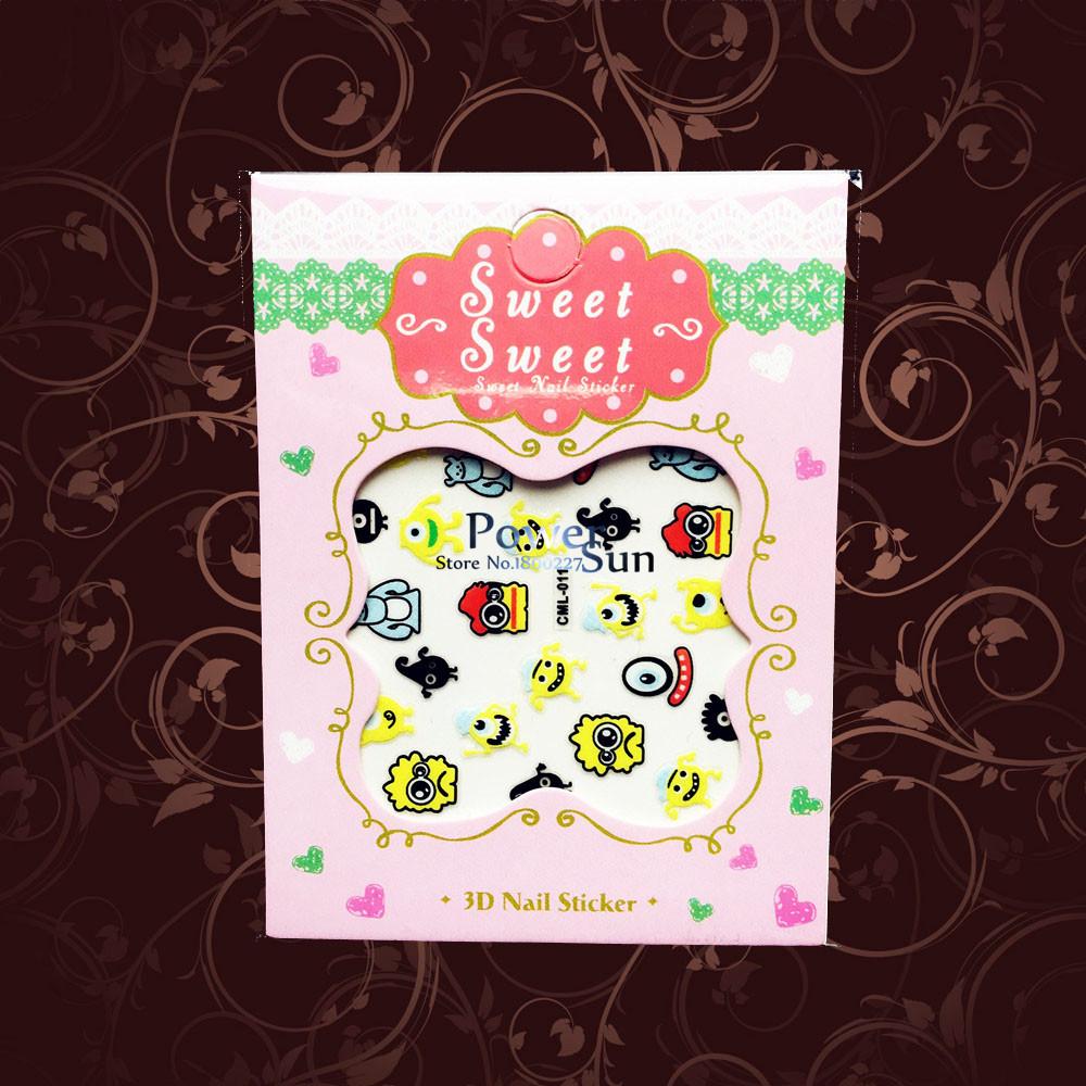 1PC SpongeBob SquarePants Nail Art Stickers Child Christmas Gifts Nail Decal PCML11 Water Transfer Fashion Nail Manicure Cartoon(China (Mainland))