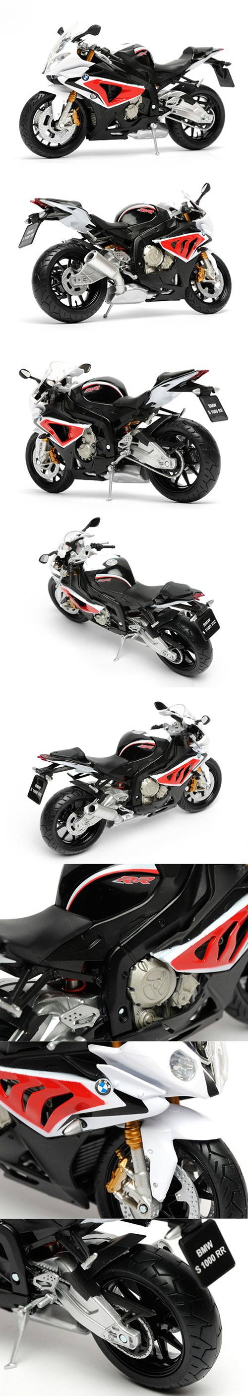 S1000RR Black&Red motorcycle model 1:12 scale models Metal Diecast Models Motor Bike Miniature Race Toy For Gift Collection