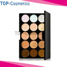 HOT! Professional 15 Colors Contour Face Cream Camouflage Make Up Concealer Palette/High Quality(China (Mainland))
