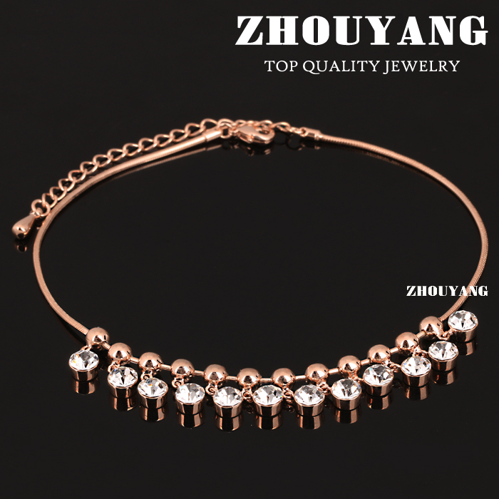 Top Quality ZYA016 Bohemia Style 18K Rose Gold Plated Anklets Jewelry Austrian Crystals Wholesale(China (Mainland))