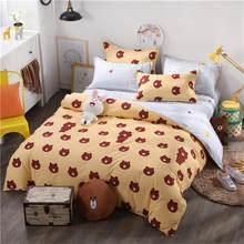 Karikatür Baykuş nevresim takımı Nevresim Takımları Yumuşak Polyester çarşaf Düz yatak çarşafı Seti Yastık Kılıfı Ev Tekstili Yatak Örtüsü balıkçılık(China)