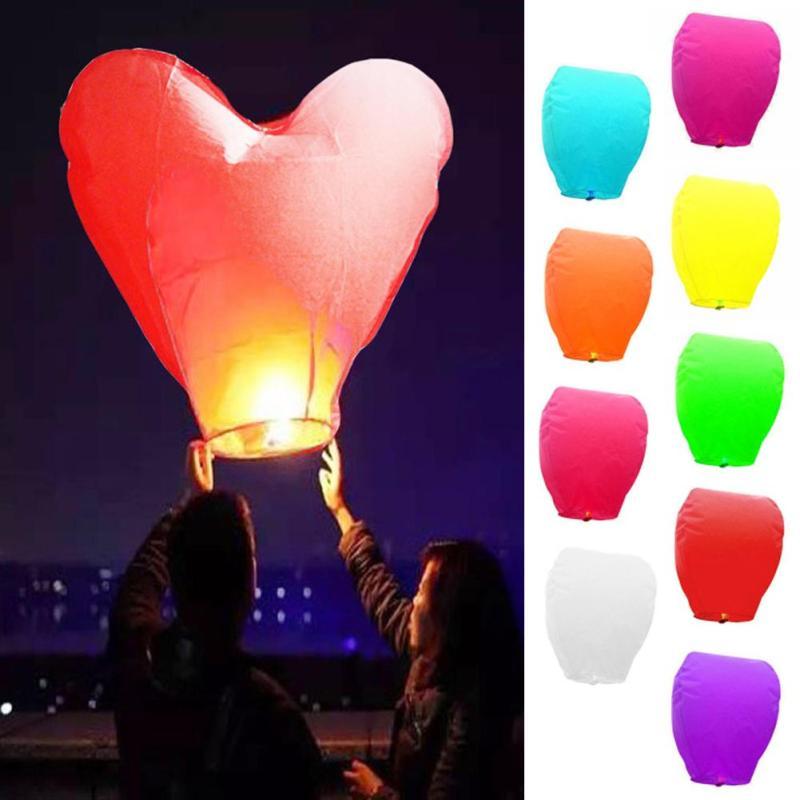 1Pcs Heart Shape Classical Kongming Lantern Sky Flying Wishing Lamp Hot Air Balloon Party Favors Birthday Party Novelty Gift s2(China (Mainland))
