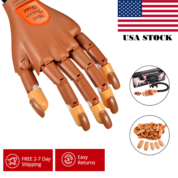 Wholesale 10pcs/lot BeautyGaGa Professional Supply Super Flexible Rotate like Human Fingers training Practice Hand nail trainer