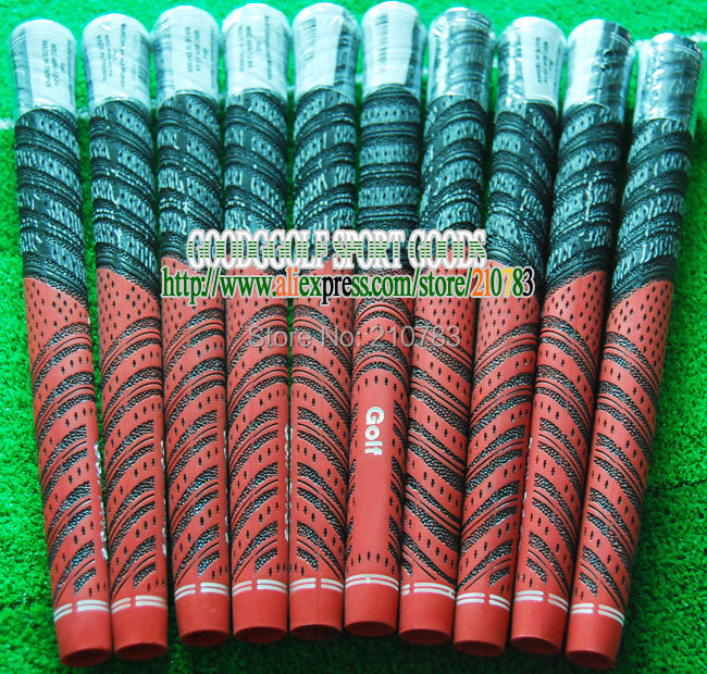 30pc/Lot NDMC Carbon Yarn Golf irons Big Grip,Red Color/Can mix Color golf club Grips,