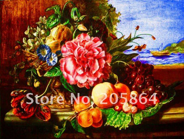 Free shipping still life gobelin tapestries, the peony bouquet,pictures for furniture,Wall hanging art picture(China (Mainland))