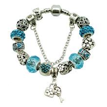 Newest Key\Lock Pendant Bracelet Heart shape Charm Bracelets & Bangles  for Women bracelet female Gift DIY Jewelry(China (Mainland))