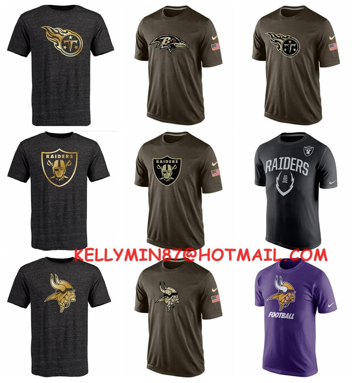 2016 new arrivals,high quality,Tennessee Titans,Oakland Raiders,Baltimore Ravens,Minnesota Viking,T-shirt,for men ans women(China (Mainland))