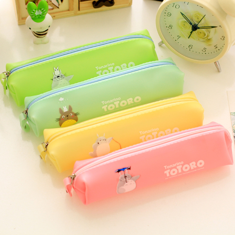 Jelly color pen case pencil bag for stationery estuche lapices pen Material escolar pencilcase Stationery Office supply<br><br>Aliexpress