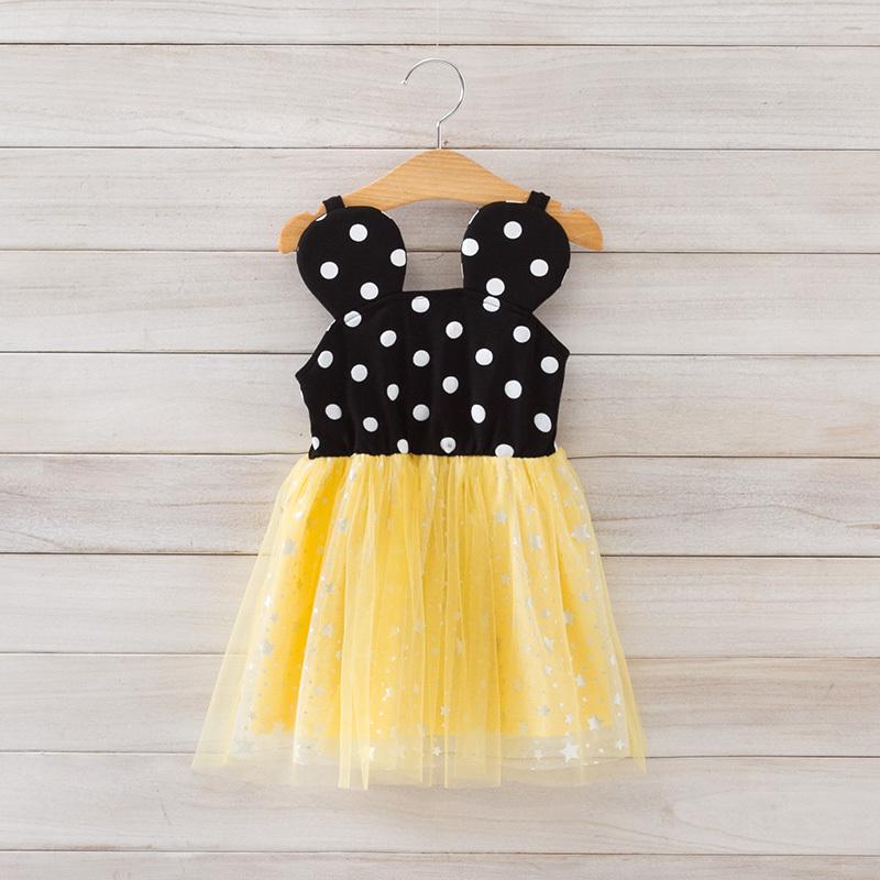 2015 New summer girls slip dress children cut dress dot 2 colors 2-8 yrs 5 pcs/lot wholesale 2584(China (Mainland))