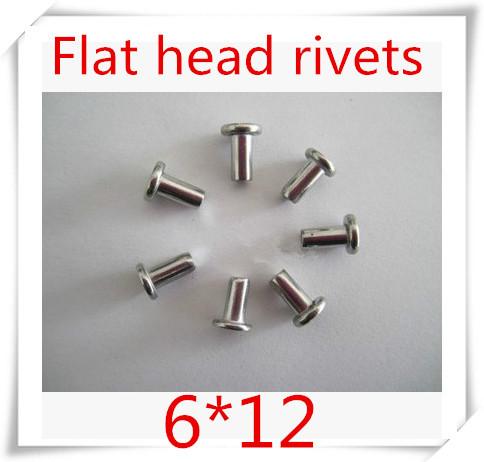 100PCS/lot  m6*12 stainless steel 304 flat head Solid  rivet  / flush head rivet<br><br>Aliexpress