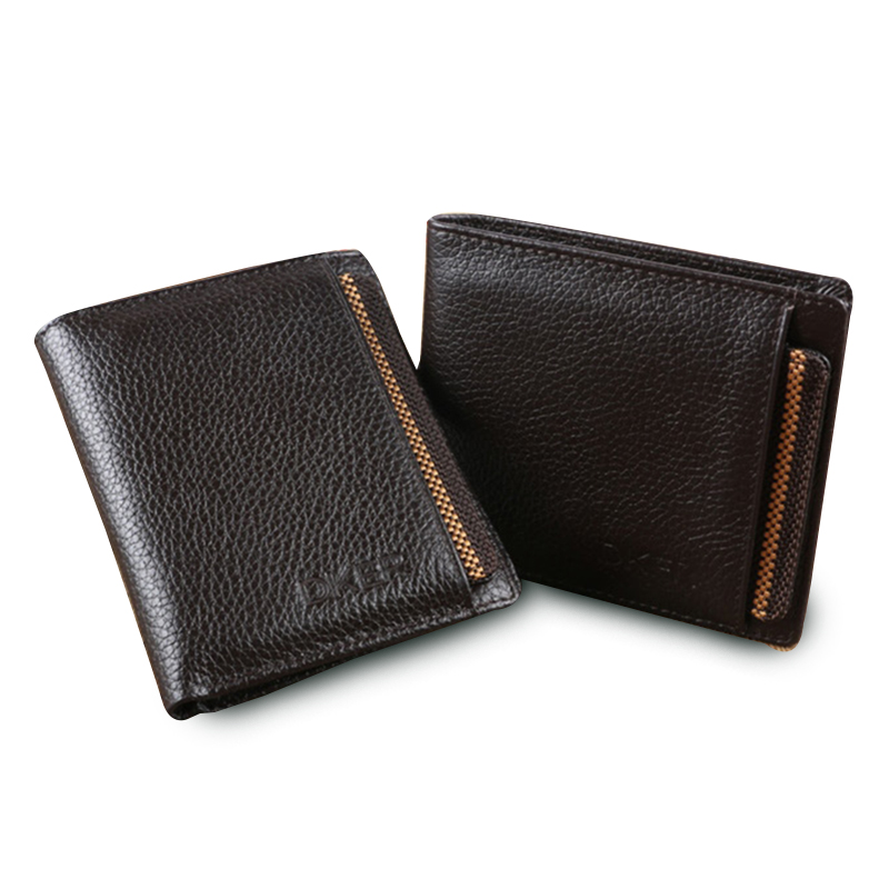 wallet men with removable slot men wallets genuine leather male clutch male wallet purse short brand luxury men's money bag(China (Mainland))
