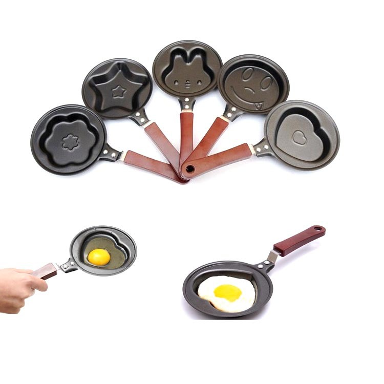 2015 Brand New 5Pcs/Lot Various Mini Non Stick Egg Frying Pan Kitchen Pot Housewares Fry Pan Egg Mould Cooking Tools(China (Mainland))