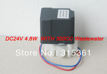 Free Shipping 1/4'' Female Thread Auto Flush Solenoid Valve DC 24Vv 4.8W with 300CC Wastewater(China (Mainland))