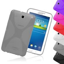 X-Line Soft TPU Silicon Case Semi Transparent Clear Gel Cover Skin For Samsung Galaxy Tab 3 7.0 P3200 P3210 T210 T211 Tab3 7″
