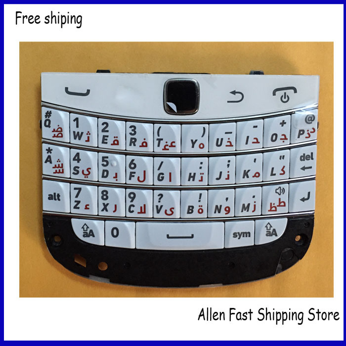 Original Arabic Keypad For Blackberry Bold 9900 Keypad Keyboard Housing Replacement Mobile Phone , White Color , Free Shipping(China (Mainland))