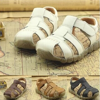 2015 new Cowhide genuine leather sandals male child sandals shoes children baby boy summer sandals free shipping(China (Mainland))