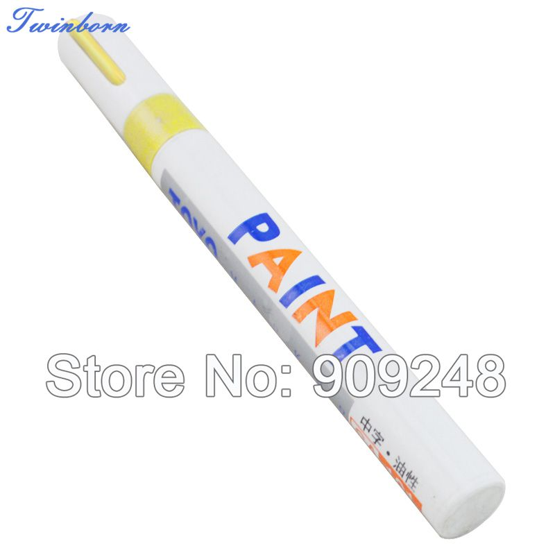 Free Shipping Car Care Products Wholesale Motorcycle Tyre Tire Tread Marker Paint Pen Yellow (11 Colors Available)(China (Mainland))