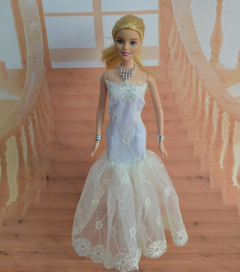 unique gown for barbie doll garments princess clothes bjd 1/6 doll lovely palace noble elegant lovely marriage ceremony attire