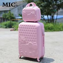 """20 """"24"""" 28 """"Hallo Kitty Koffer Sets, Kinder frauen KT Gepäck, Hohe Qualität ABS Box, Bunte Reisetasche, Universal rad Trolley(China (Mainland))"""