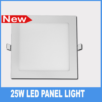Free shipping 25w led panel lights white ceiling recessed bedroom kitchen down lamps