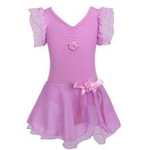 Child Girls Gymnastic Ballet Leotard Tutu Dance Dress Sleeveless Kids Dancewear Clothing Princess Ballerina Fairy Party Costume(China (Mainland))