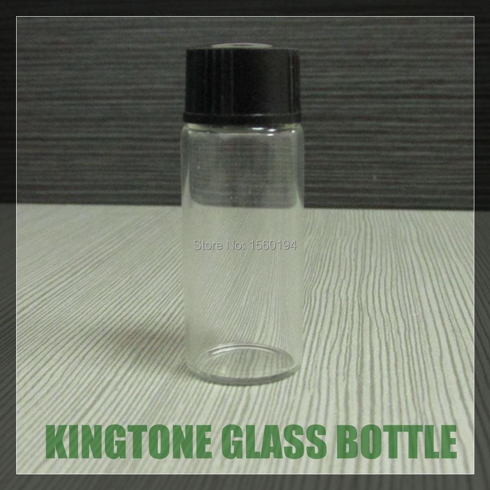 5ml tubal shape glass wishing bottle Vials Containers with black lid 43*17mm(China (Mainland))