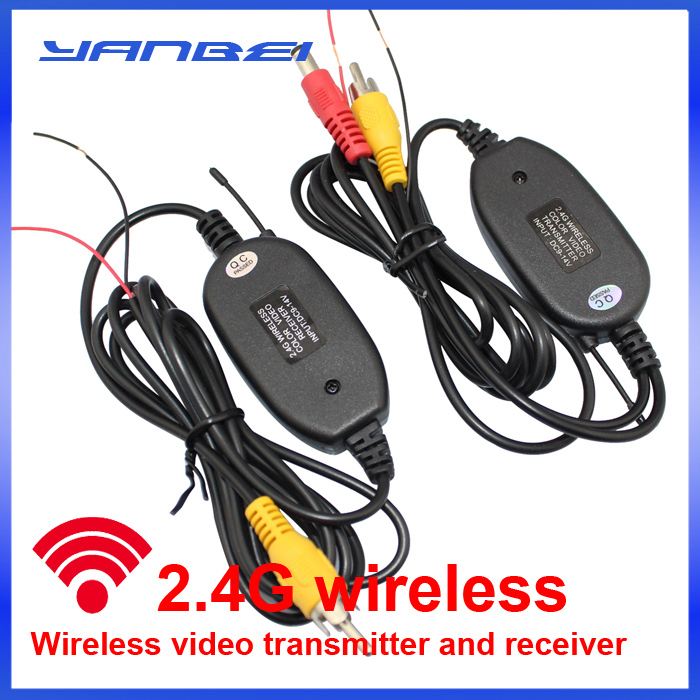 2.4GHZ RCA Video Wireless Transmitter & Receiver for Car Rear view reversing Camera Monitor DVD(China (Mainland))