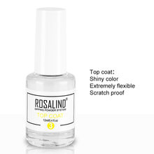 ROSALIND Nail Holographic Powder Dust Dipping Powder without Lamp Cured 10g Natural Dry Nail Art Decorations Manicure Glitter(China)