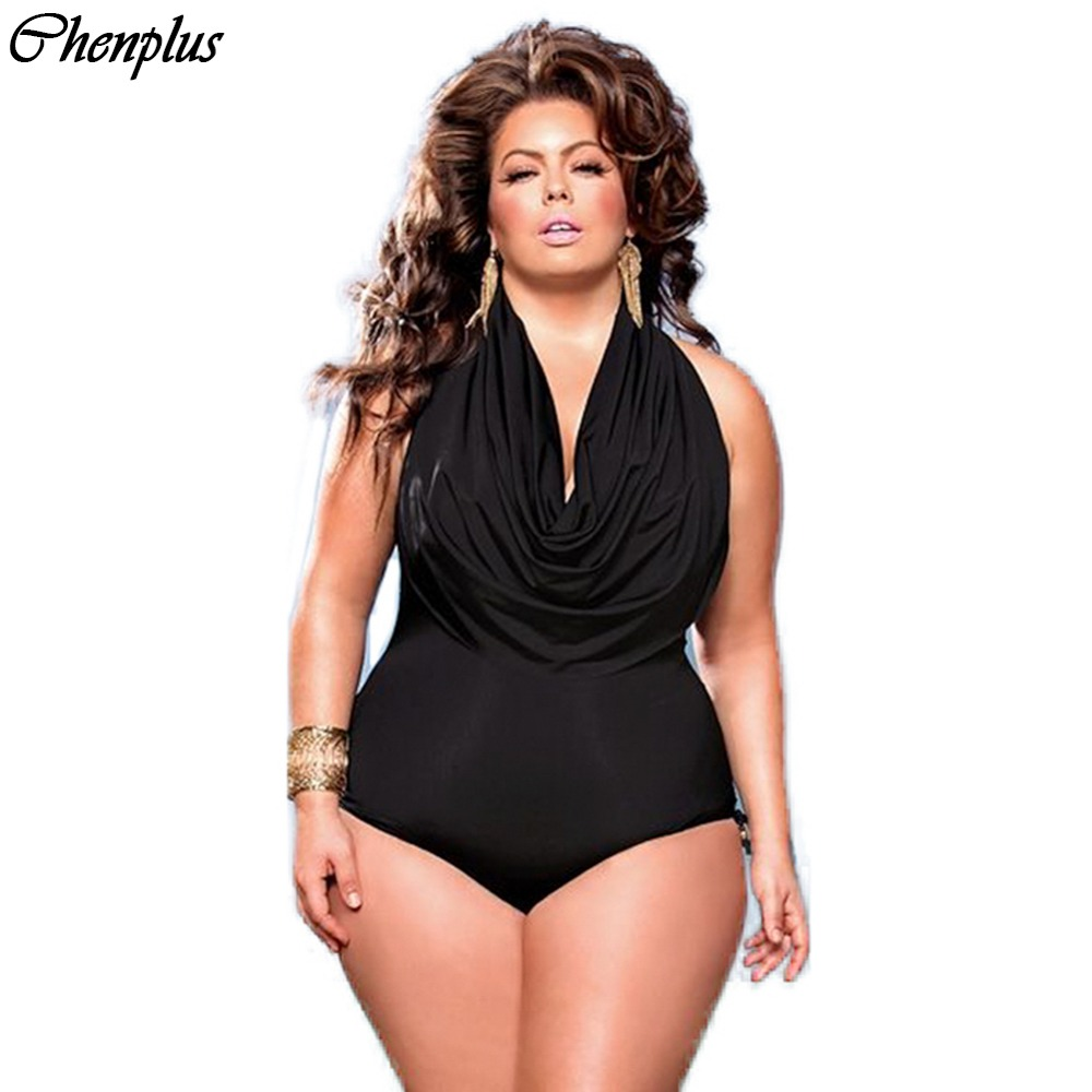 2016 new Arrival women big size swimsuit plus size ...