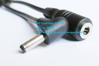 Free Shipping/ 5pcs/ Short DC Plug 3.5X1.35mm 90 Degree Right Angle Male to Female Extension Cord / Cable New