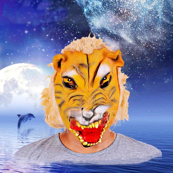 Horror Animal Monster face mask tiger head wig wigs Halloween scary mask party performance performer(China (Mainland))