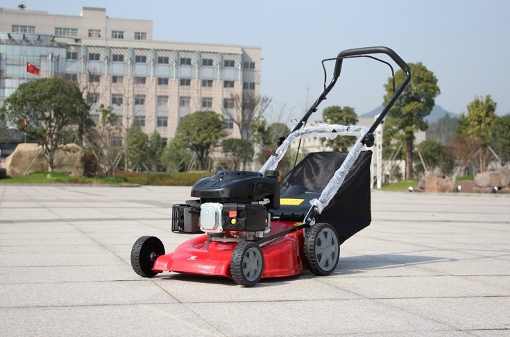 2015 new hot sale gasoline hand push lawn mower petrol wheel mower manufacturer wholesale(China (Mainland))