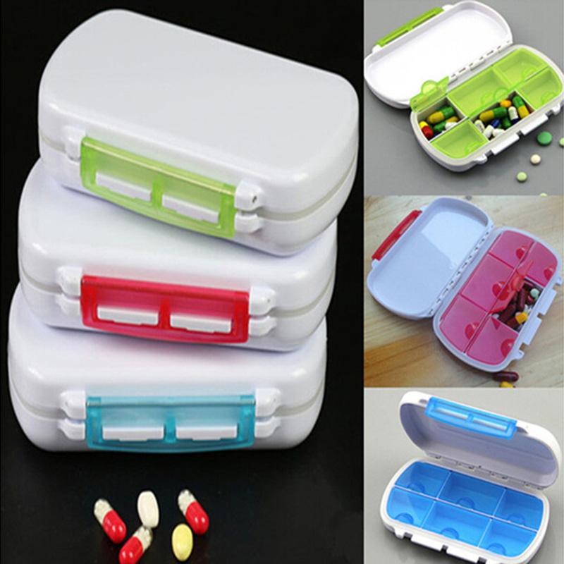 New 2016 Cute Mini 6 Slots Portable Medical Pill Box Drug Tablet Medicine Storage Dispenser Holder Case Organizer For Travel(China (Mainland))