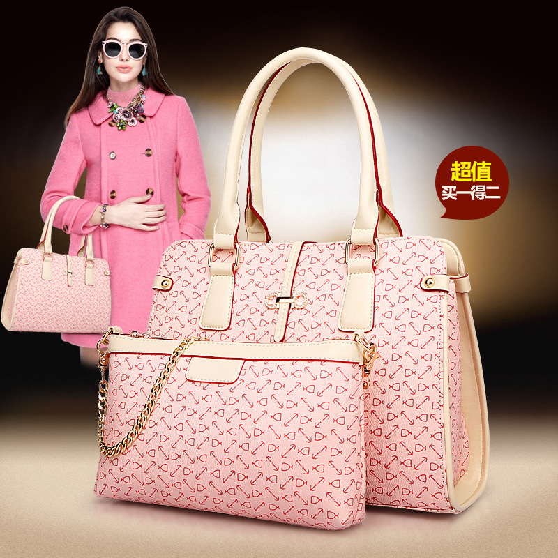 New Arrival 2015 Composite Bag Female Handbag Picture Package Twinset Women's Bags Fashion Handbags(China (Mainland))