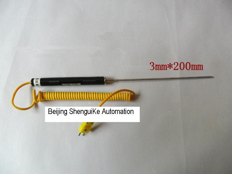 Handle type  thermocouple K Type with Spring Coil cable and Miniature connector free Shipping<br><br>Aliexpress