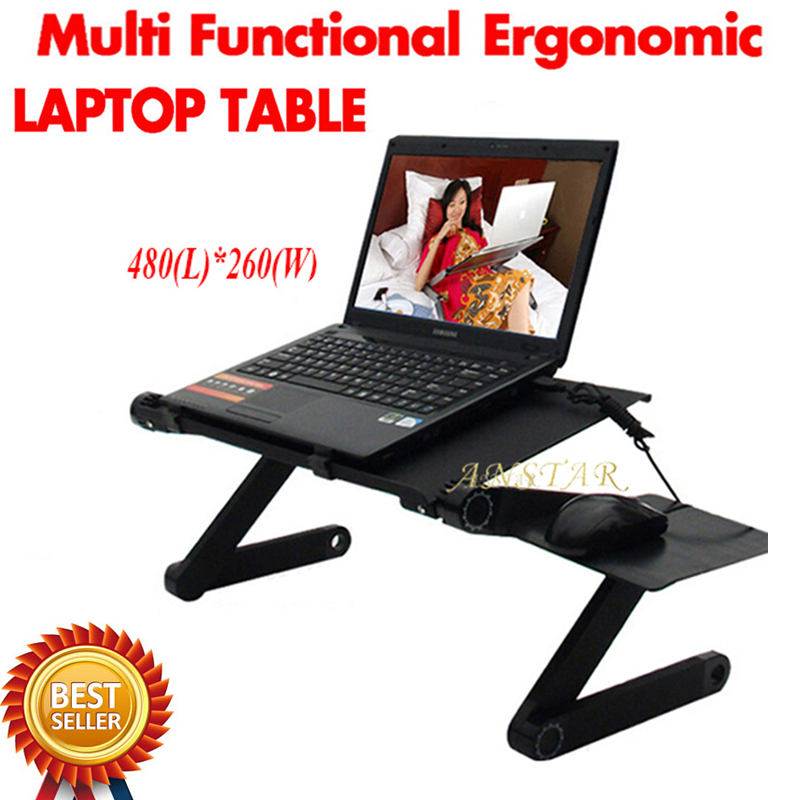 Multi Functional Ergonomic Mobile Laptop Table Stand For