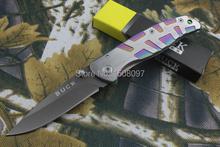Buck cuchillo de bolsillo plegable de cerámica cuchillo DA34 completa de acero supervivencia de la caza cuchillos HSK0117Tactical del cuchillo del EDC envío gratis