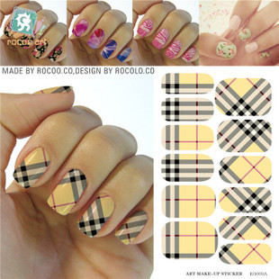 KG003A import water film paper waterproof makeup nail stickers nail jewelry nail decals stickers water transfer nail sticker(China (Mainland))