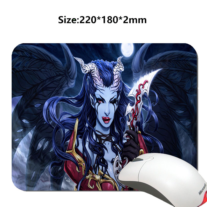Dota 2 Queen of Pain Gaming Mouse Mat Custom Your Styles High Quality Non-slip and Durable Computer and Laptop Mouse Pad(China (Mainland))