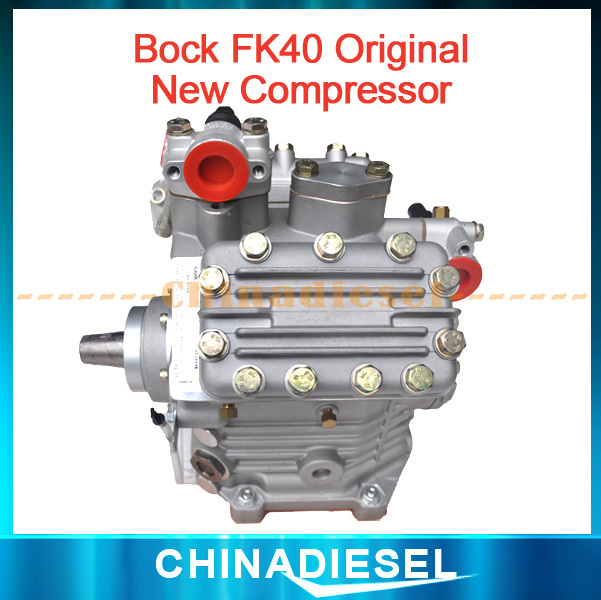 Top quality 100% Genuine Compressor BOCK FK40 655K 24V OEM New No Clutch for bus A/C(China (Mainland))