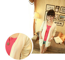 2016 Fashion Sweater Candy Colors Long Sleeves Women Cardigan Outerwear Woman Sweatercoat(China (Mainland))