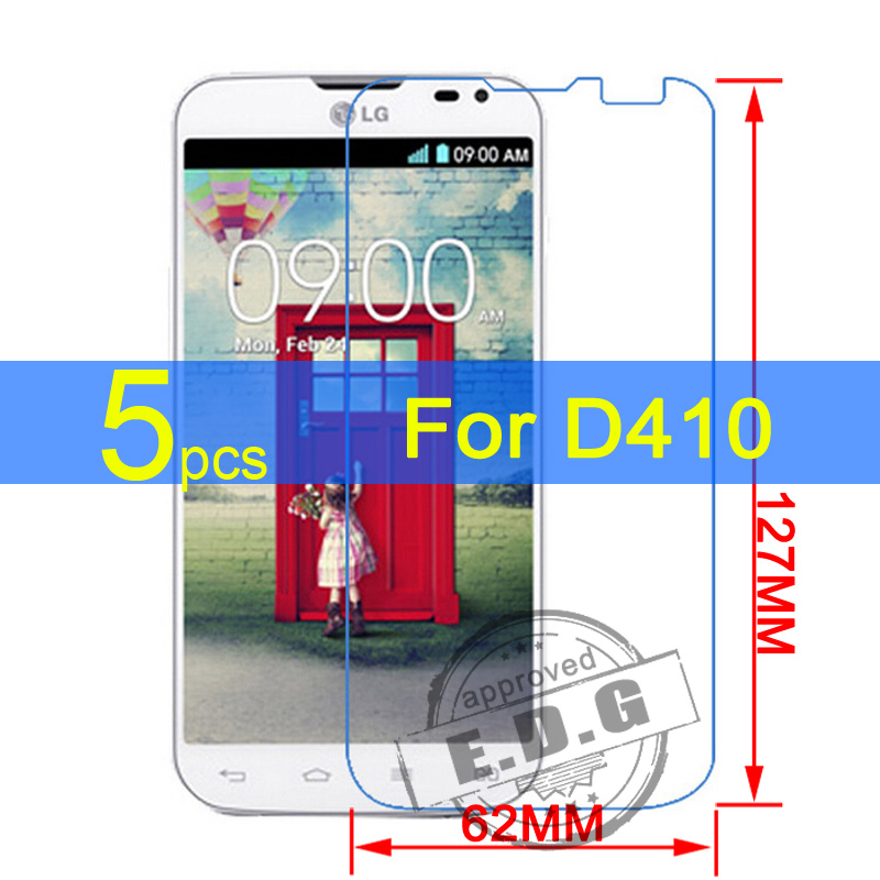 5pcs Gloss Ultra Clear LCD Screen Protector Film Cover For LG Series III L90 Dual D410