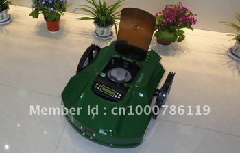 The Second Genetation Blade Safety Control /Newest Robot Weed Cutter+Time Setting By LCD+cutting height: 2.5cm-6.5cm